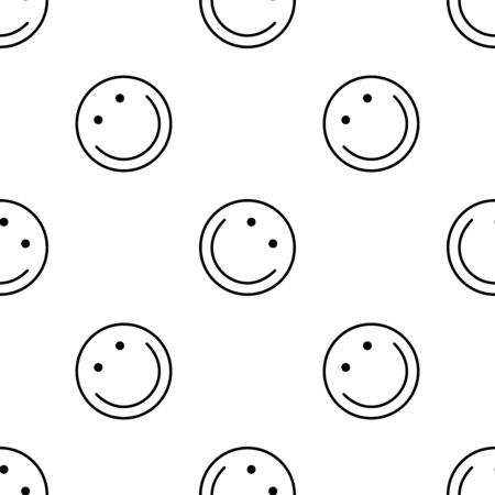 Smile icon seamless pattern. White and black background. Abstract geometric shape texture. Design template for wallpaper,wrapping, textile. Vector Illustration 写真素材 - 129001042