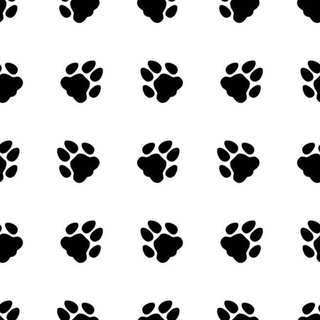 Animal footprint seamless pattern. Background. Abstract geometric shape texture. Design template for wallpapers, wrapping, textile. Vector Illustration 写真素材 - 129791574