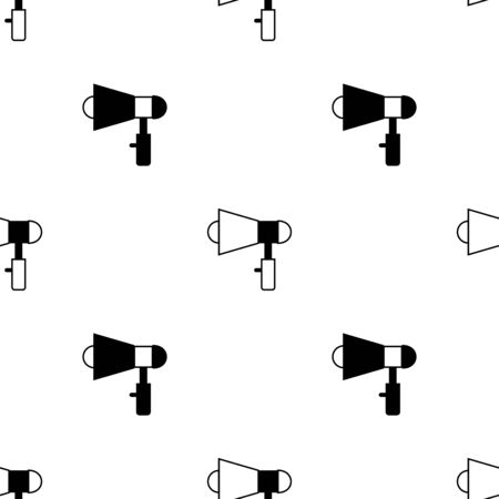 Speaker seamless pattern. White and black background. Abstract geometric shape texture. Design template for wallpaper,wrapping, textile. Vector Illustration