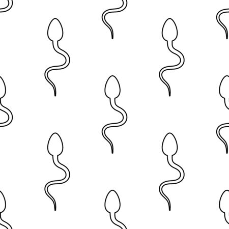 Male reproductive cell icon seamless pattern background. Vector illustration.