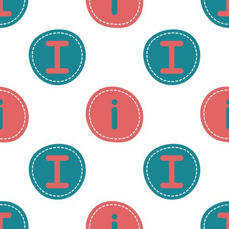 Flat linear design. Seamless texture of the English alphabet. Letter - I and i . Can be used for wallpaper, pattern fills, web page, surface textures, textile print, wrapping paper - Vector Ilustrace