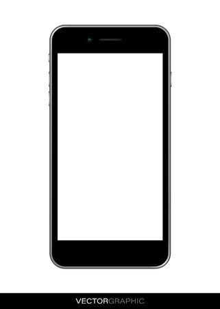 Vorlage eines realistischen Smartphones mit Off-Screen. Moderne Geräte auf weißem Hintergrund. Gerätelayout. Vektor-Illustration. Vektorgrafik