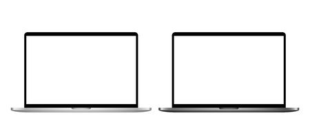 Template of realistic desktop computers Modern gadgets isolated on white background. Device layout. Vector illustration. 일러스트