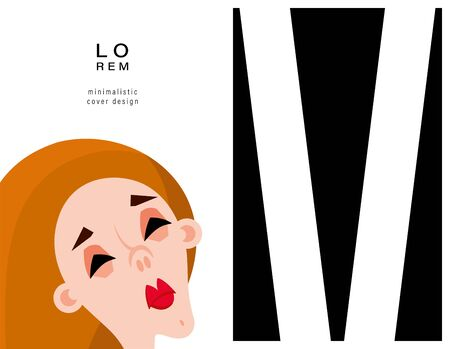 Background with the image of a woman. Suitable for magazine cover, outdoor print, ads and decoration in the beauty industry. Vector illustration.