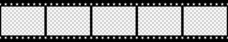 Black and white camera film template. Vector illustration. Ilustración de vector