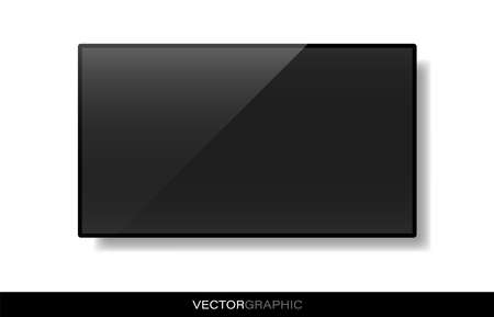 Realistic electronic device template. 矢量图像