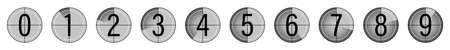 Movie countdown. Retro style television screen. Vector illustration.