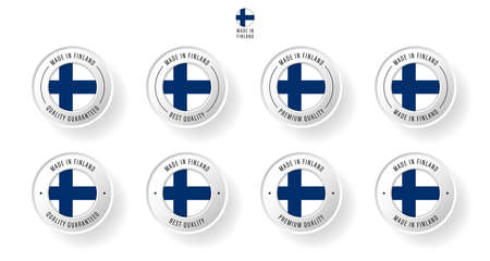Labeling - Made in Finland. Flat icon isolated on white background. Vector illustration. Information label. Vector illustration.
