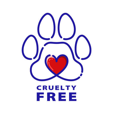 Cruelty free concept design with rabbit symbol. Not tested on animals icon. Vector illustration.