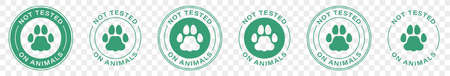 Symbol of No tested on animal. Can be used as sticker, icon. Information label. Vector illustration.
