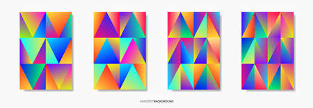 Abstract gradient geometric pattern background texture for poster cover design. Vector illustration.