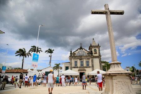 salvador, bahia, brazil - january 1, 2021: View of the Nossa Senhora de Boa Viagem church in the city of Salvador.