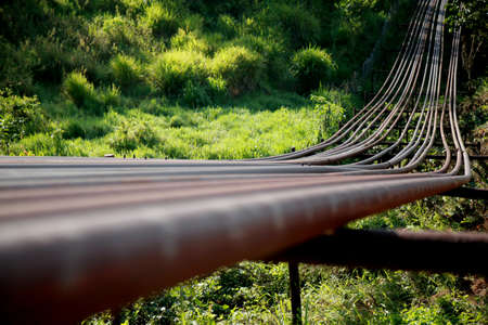 pipeline for the transportation of oil in a Petrobras company station in the city of Mata de Sao Joao.