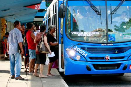 salvador, bahia / brazil - january 12, 2015: Passengers are seen next to buses at Lapa Station in Salvador city. Sajtókép