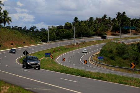 salvador, bahia / brazil - march 29, 2019: View of Via Metropolitana, highway that connects Estrada do Coco (BA 099) in Camacari, with highway CIA Aeroporto in Salvador.