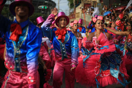 salvador, bahia / brazil - january 24, 2016: members of the cultural group Quadrilha Junina do Forro Asa Branca, seen during an event at the Itororo Dike in the city of Salvador. . Redakční