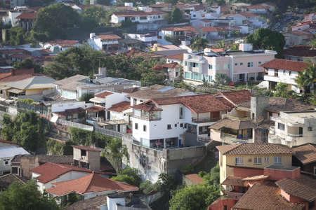 salvador, bahia / brazil - Aerial view of villas in the neighborhood of Pituba in Salvador.