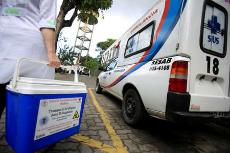 salvador, bahia / brazil - september 21, 2016: Special box for transporting human organs for transplant is seen at the Transplant Center of Bahia, in the city of Salvador. Editorial