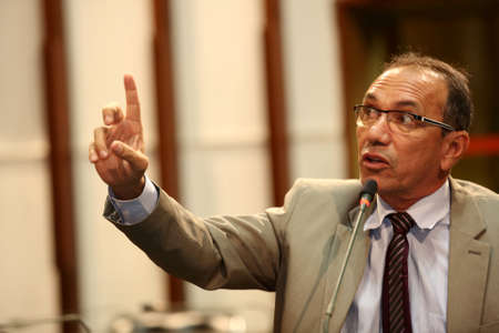 salvador, bahia / brazil - february 15, 2017: State Representative Zo seen in the plenary of the Legislative Assembly of Bahia in the city of Salvador.