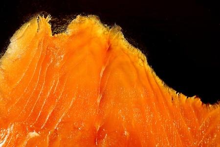 Mountain shaped piece of thin sliced orange salmon Stock Photo - 9769209
