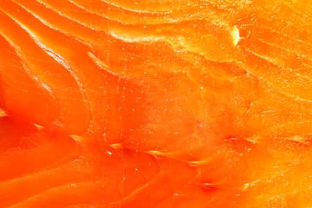 flesh: Orange texture of theslice of  fresh salmon Stock Photo