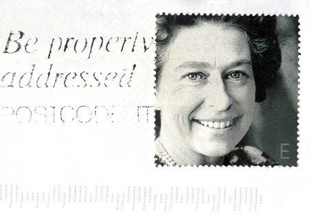 United Kingdom - circa 2002. A stamp on piece of paper printed in United Kingdom shows Queen Elizabeth II,  circa 2002.
