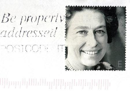 United Kingdom - circa 2002. A stamp on piece of paper printed in United Kingdom shows Queen Elizabeth II,  circa 2002.  Editorial