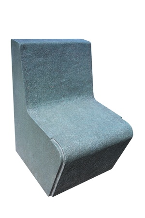 Heavy concrete contemporary seat for outdoors isolated on white Stock Photo - 13443822