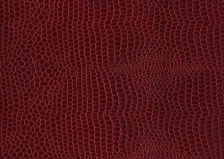 crocodile skin: Dark red color colour crocodile skin texture background Stock Photo