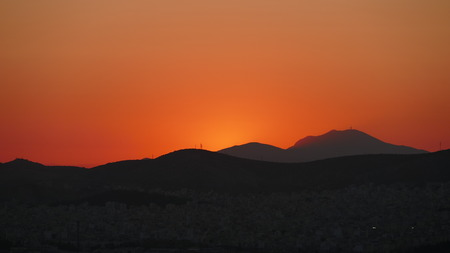 Athenian Sky After Sunset