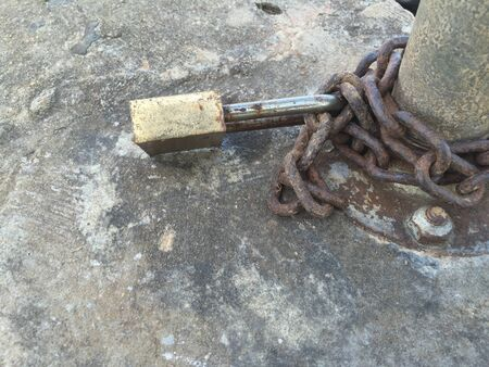 rusty chain: chain lock Stock Photo