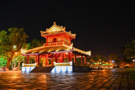 Bandstand near Hue Imperial Citadel,Vietnam Stock Photo