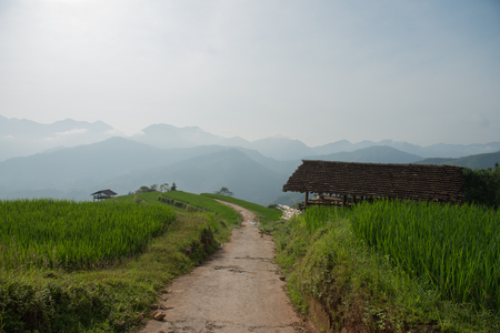 cottage on the hill in Northern Vietnam Stock Photo