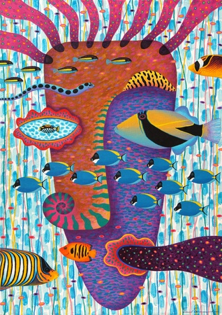 Artist:   Opas ChotiphantawanonTitle:   Happiness 2Technique:   Acrylic on Canvassize:   70x100 cm.Year:   2011 Stock Photo - 10267376