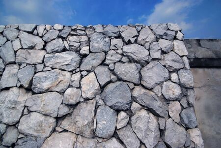 Sky and Stone wall background photo