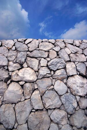 Sky and Stone wall background Stock Photo - 10613601