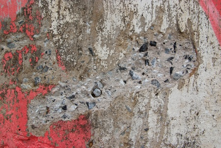 Texture of old weathered concrete wall with rusty warning stripes Stock Photo - 11718768