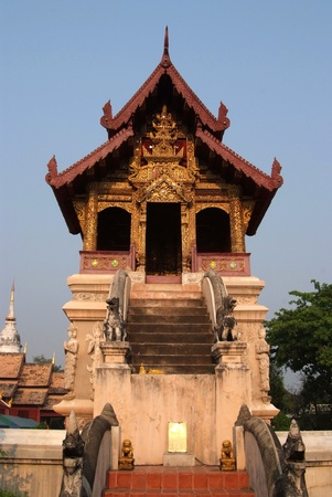 scripture: The beauty of Thai architecture at Scripture Repository Wat Phra Singh, Chiang Mai.