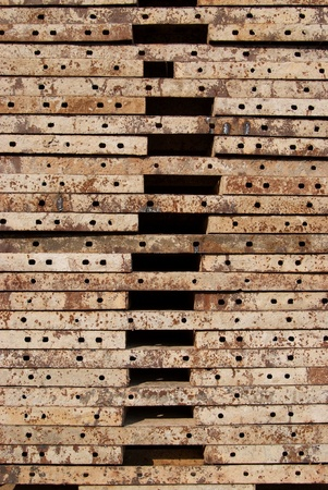 Texture of Steel for casting concrete blocks Stock Photo - 12918333