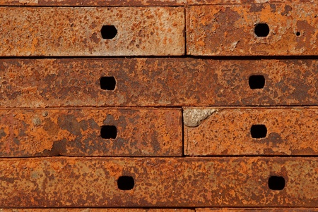 Texture of Steel for casting concrete blocks