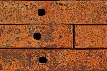 Texture of Steel for casting concrete blocks  photo
