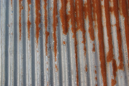 Old Texture and rusty zinc fence background  Stock Photo