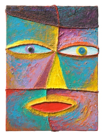 Face 12  Original acrylic painting on canvas