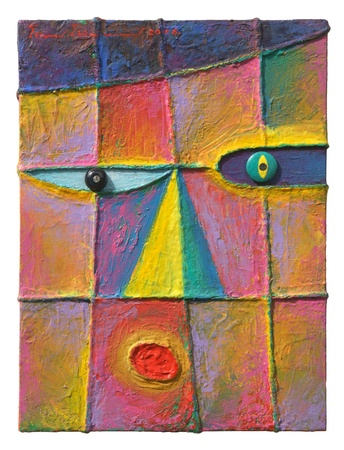 Face 15  Original acrylic painting on canvas