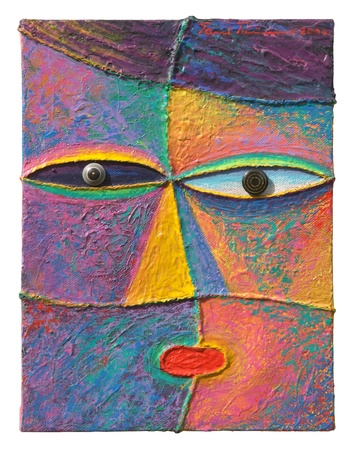 Face 6  Original acrylic painting on canvas  Stock Photo - 13035813