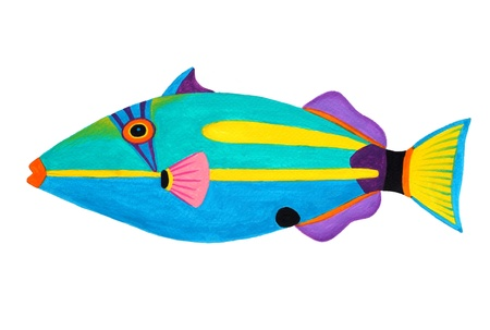 Colorful painting Collection of trigger fishes set Stock Photo - 13519750