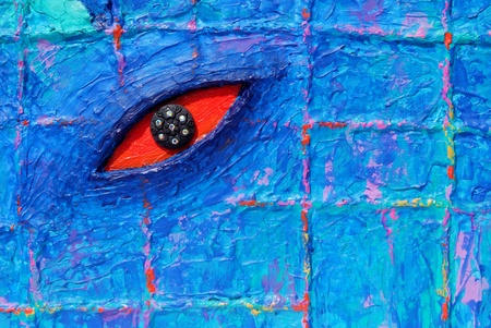 oeil rouge: Texture des yeux rouges de la peinture color�e