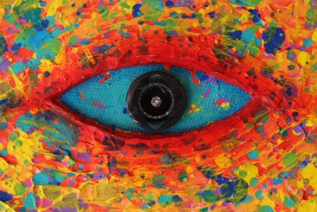 Turquoise Eye Texture of colorful painting