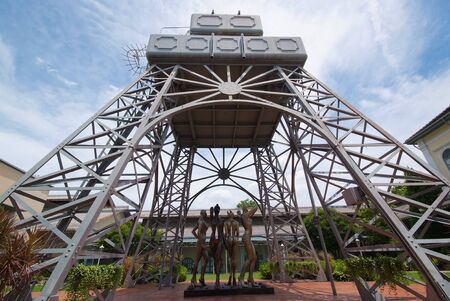 Eiffel water tower at The National Gallery in Bangkok, Thailand