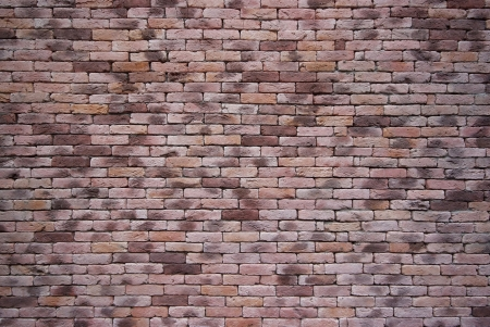 Pink Brick Wall Texture, square bricks background of decorate photo